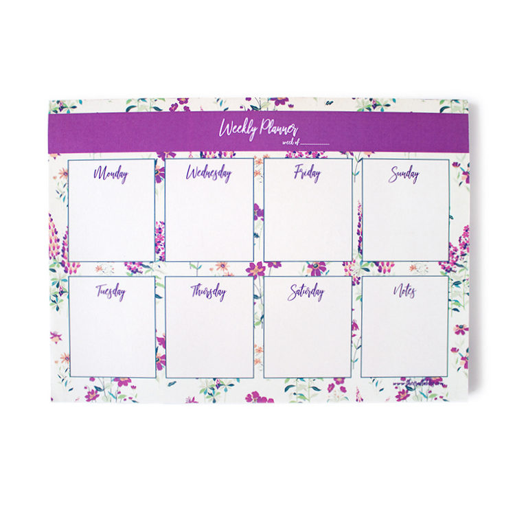Wallflower Lavender Weekly Planner | 7 day planners by The Craftables