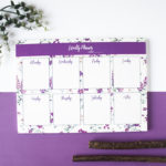 Wallflower Lavender Weekly Planner | Weekly Organizer by The Craftables