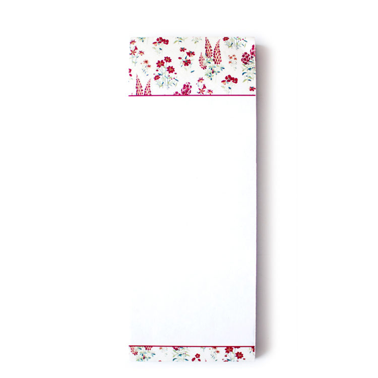 Wallflower Rose Bookmark Listpads | Slim Notepads by The Craftables