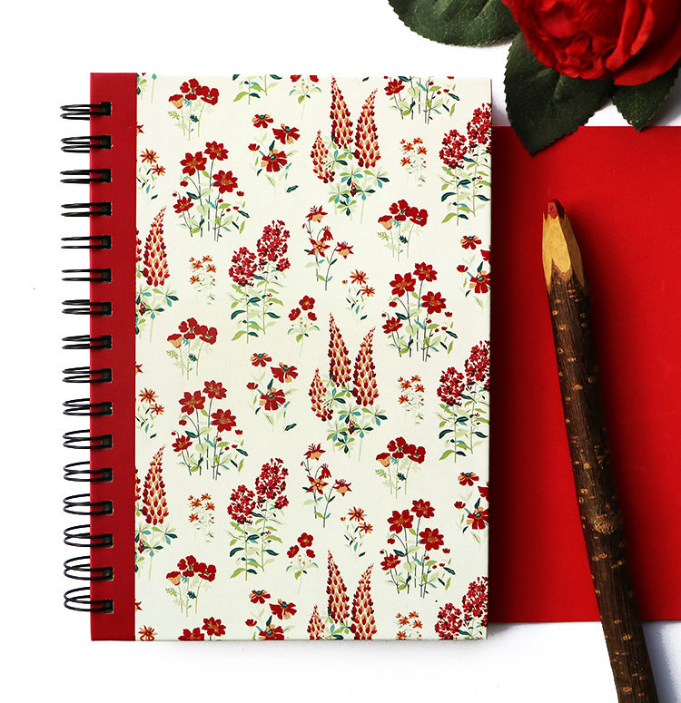 Wallflower Rose Spiralbound Notebook | Customised Stationery by The Craftables