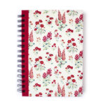 Wallflower Rose Spiralbound Notebook | Personalised Notebooks by The Craftables