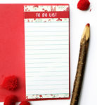 Wallflower Rose To Do List | Magnetic Listpads by The Craftables