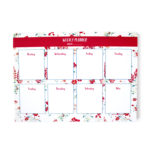 Wallflower Rose Weekly Planner | 7 Day Personalised planners by The Craftables