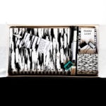 Brushstrokes Colourful stationery set | Monochrome Stationery Kit for men | The Craftables