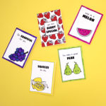 DIY Colouring Cards Set | Fruit themed do it yourself craft idea | The Craftables Cards + Envelopes