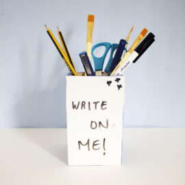 DIY White Board Craft Kit for Pen Stand | do it yourself ideas | handmade kids activities | The Craftables DIY Kits