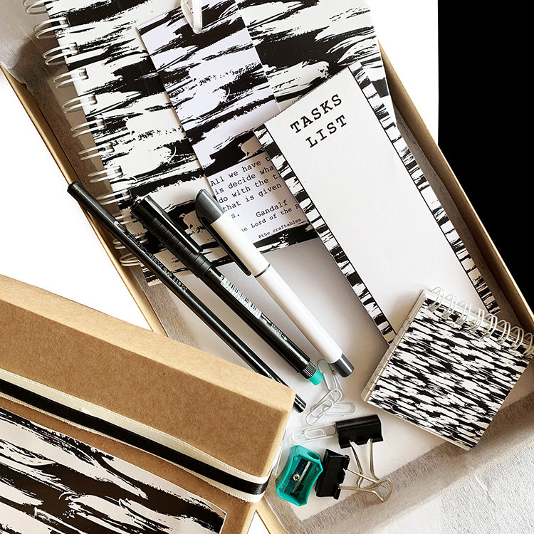 Gifts for Him and Her | Brushstrokes Gift Set | Stationery set gifts | The Craftables