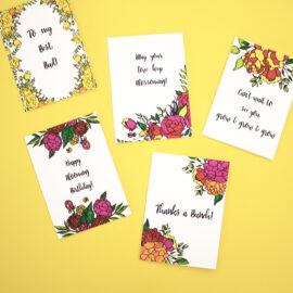 Handmade colouring cards idea for gifts | Customised DIY kit ideas | The Craftables Kits