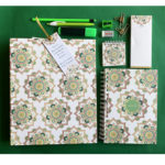 Mandala Wedding Stationery Set | Flower design | Folder Notebook notepads stationery | Personalised kits by The Craftables