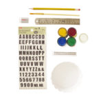 Materials for making personalised ring holders | DIY personalised platters kit by The Craftables