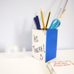 Two sides DIY white board pen stand | Stationery ideas for all ages | Craft kits by The Craftables