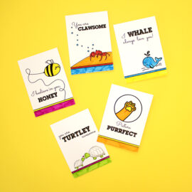 Zoological Colouring Cards | Themed DIY Kits for all ages | Gifting ideas | Cards, envelopes and stickers set by The Craftables