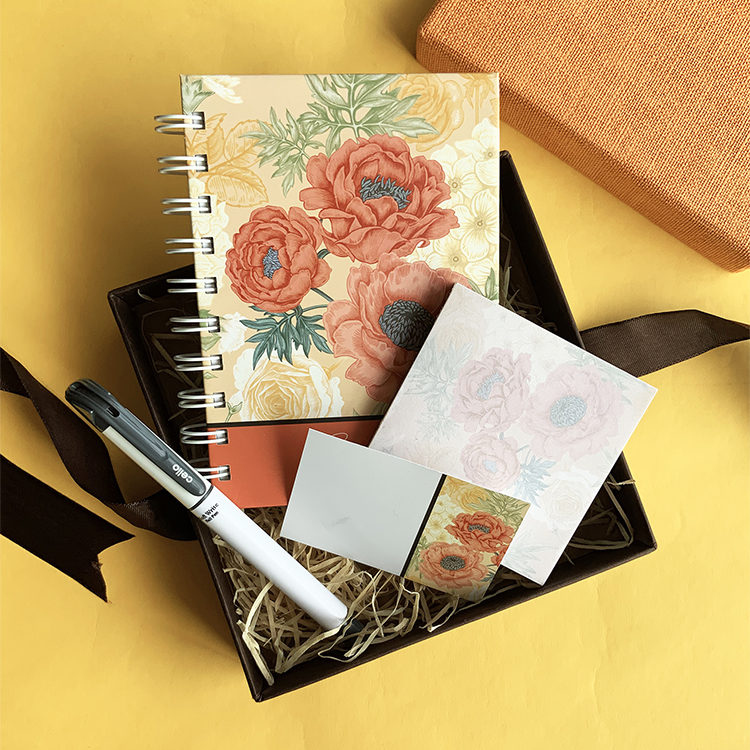 Amber Gift Set for Women | The Craftables Stationery Limited Edition