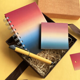 Ombre Rakhi Gift Set | Stationery Set by The Craftables | Rakhi Limited Editions