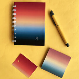 Ombre Rakhi Gift Stationery Set | Stationery Set by The Craftables | Rakhi Limited Editions