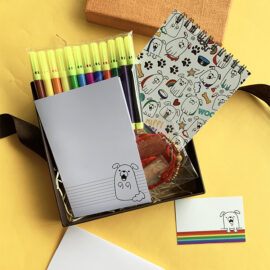 Puppy themed stationery Gift Set | Limited Edition Rakhi gift set | The Craftables