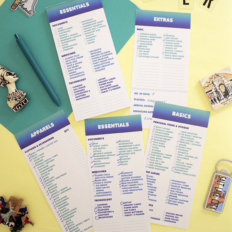 Ombre Travel Planner | Travel checklist sheets | Wanderlust Journey by The Craftables