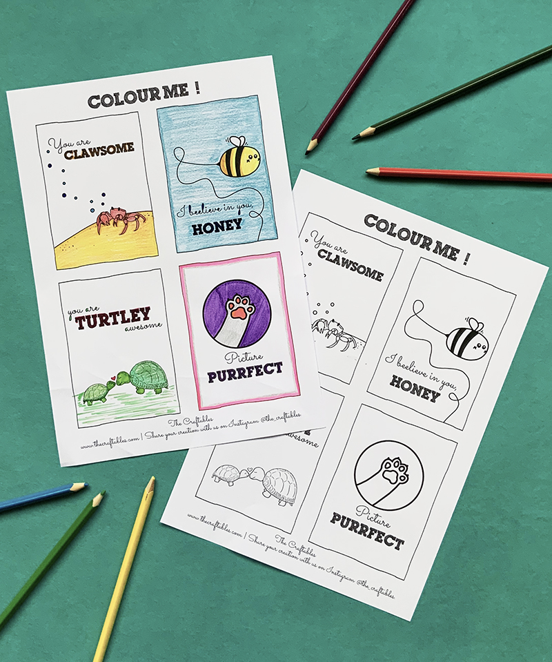 Animals Compliment puns   Colouring Sheets   printables by The Craftables