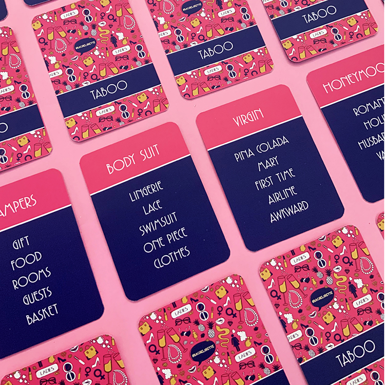 Bachelorette Taboo | Ladylike Design | The Craftables | Themed Card Games