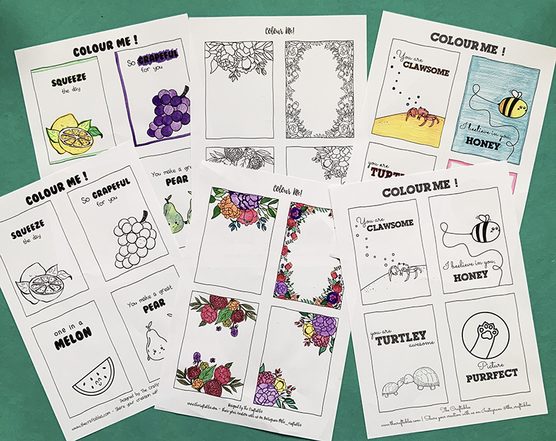 Colouring Sheets by The Craftables | Printables sheets for all ages