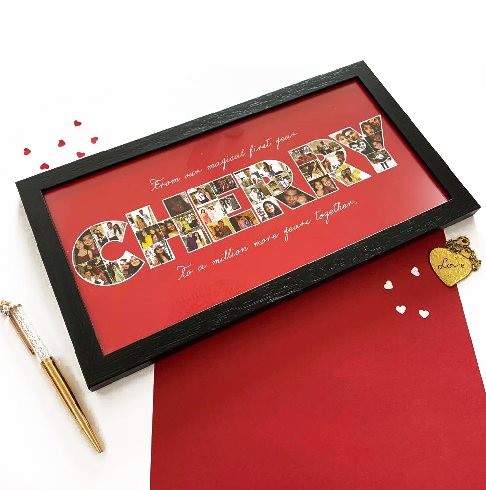 Customised initials frames | Personalised gifts for partner | The Craftables