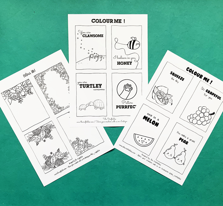 DIY Printable Colouring Sheets