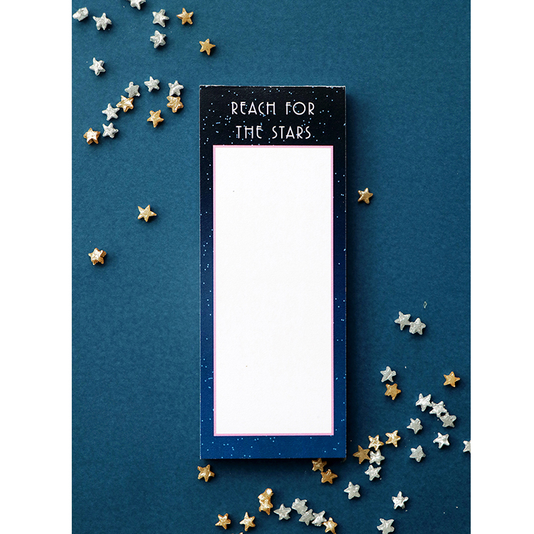 Stargazer Bookmark Listpad | Tear off mini notelet | Custom Stationery | The Craftables