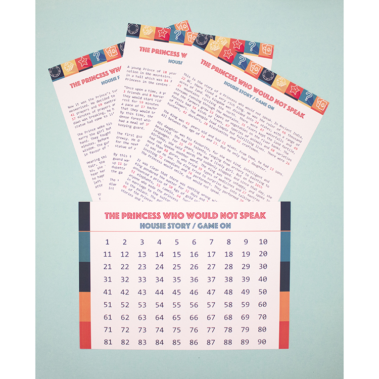 Story Housie   Bingo Tambola Housie variation   Apricot Game On design   The Craftables Party Game Ideas