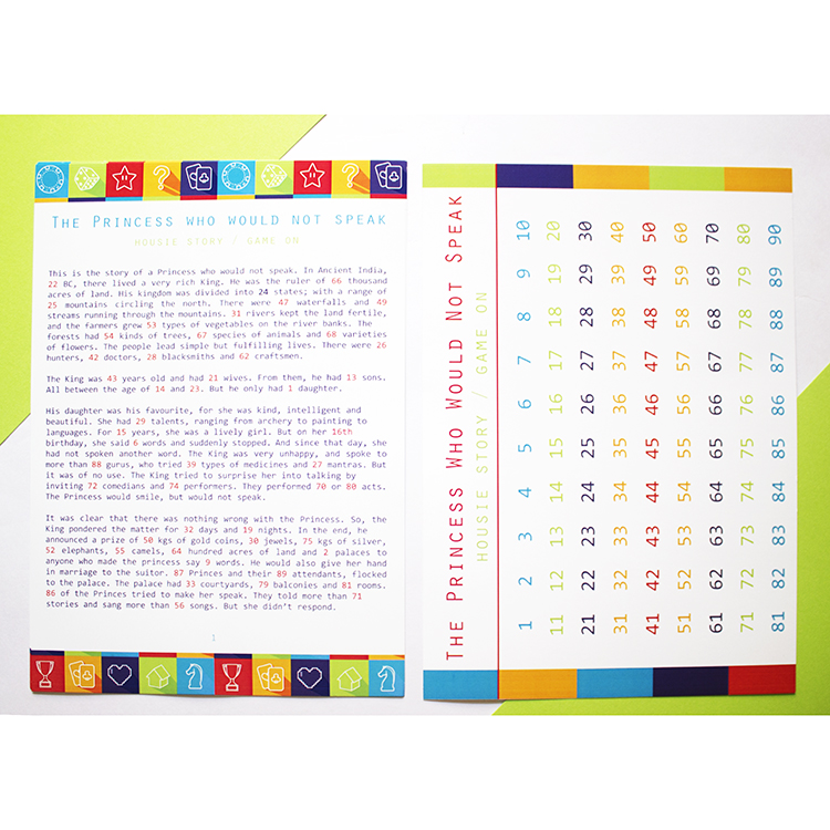 Story Housie | Bingo Tambola Housie variation | Lime Game On design | The Craftables Party Game Ideas