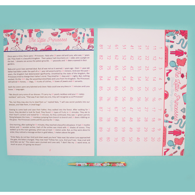 Story Housie | Bingo Tambola Housie variation | Soft Pink Ladylike design | The Craftables Kitty Party Games | Ladies Lunch games