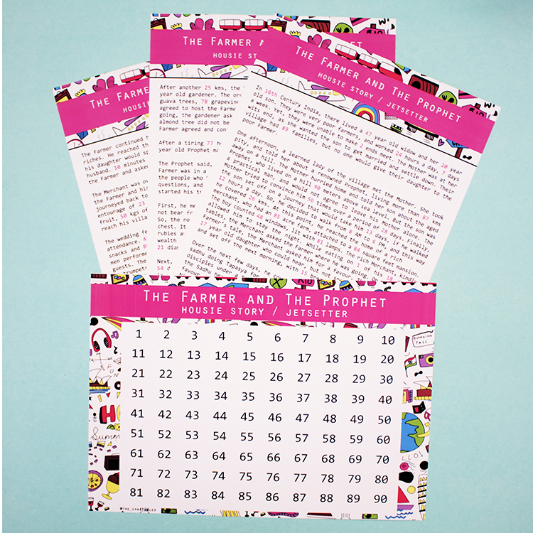Story Housie | Bubblegum Jetsetter | The Craftables Printable + printed party games