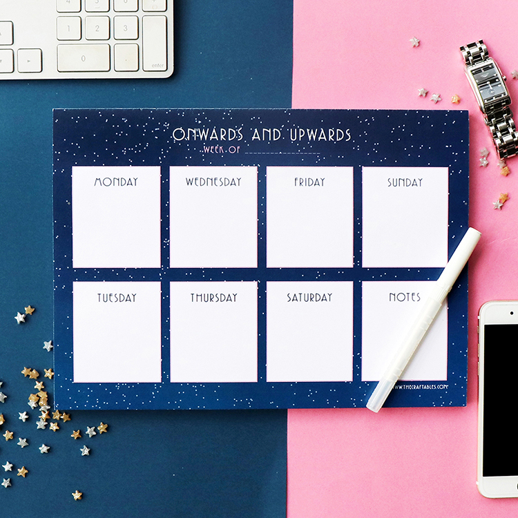Weekly Planner | Stargazer | Customised stationery designs | The Craftables