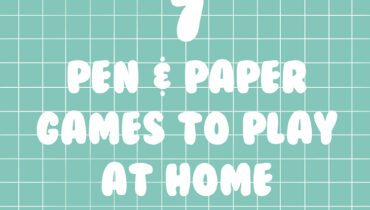7 Paper and Pen Games to play at home!