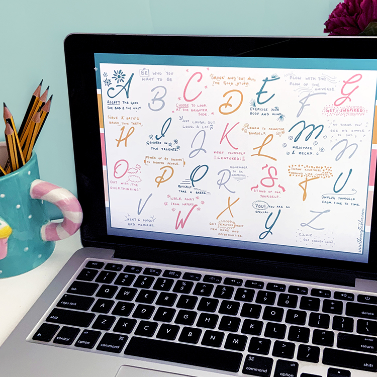 A to Z of Self care   Self Care kit   Digital Bundle by The Craftables