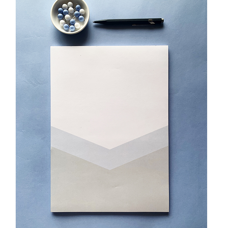 Bold Chevron A4 notepad | Simple stationery for Men | Father's Day ideas | The Craftables Stationery