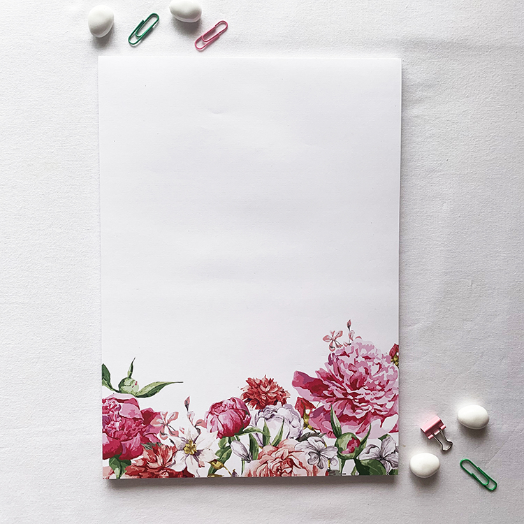 Bouquet A4 Notepad with 50 tear off sheets | The Craftables stationery ideas
