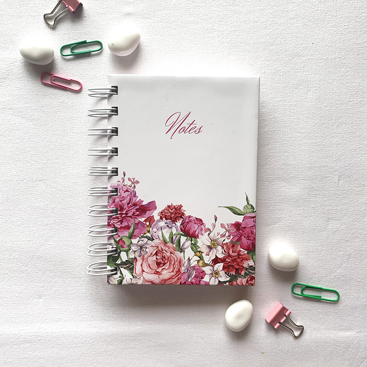 Shop online bouquet hard cover A6 notebook | Pretty flowers stationery | The Craftables