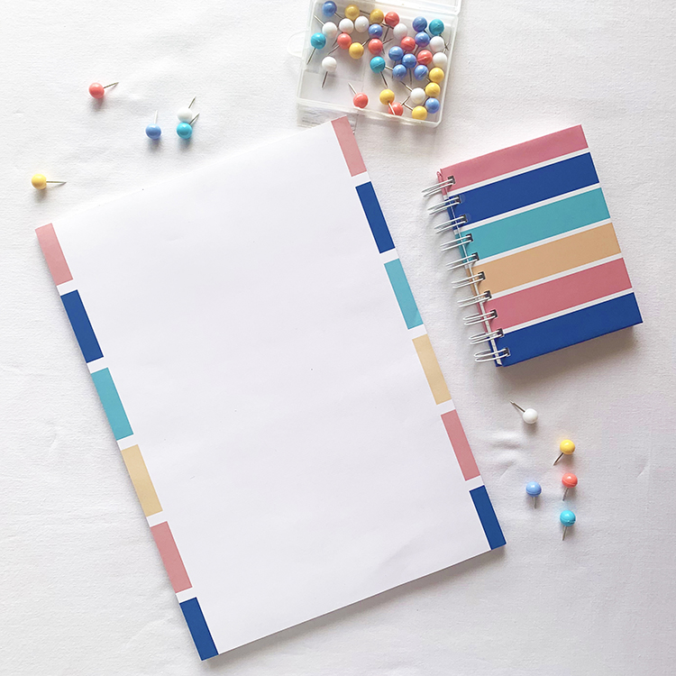 Stripes A6 Notebook and A4 notepad combo | Buy online on The Craftables