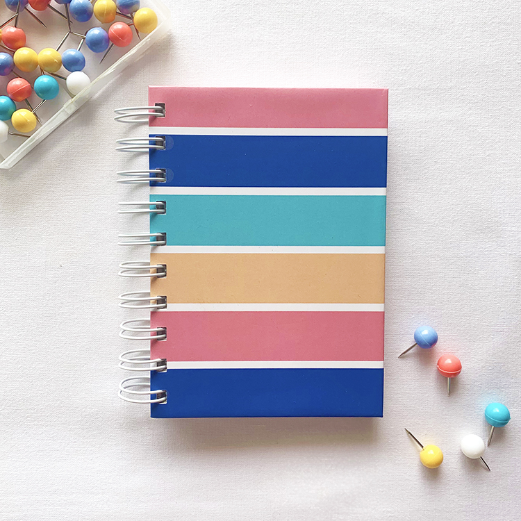 Stripes A6 notebook | Ruled or plain pages | Simple stationery | The Craftables