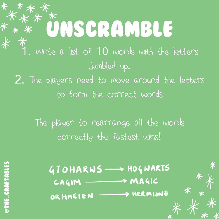 Unscrambled Letters Actvity for all ages | Language games for children | Parent child Games | The Craftables