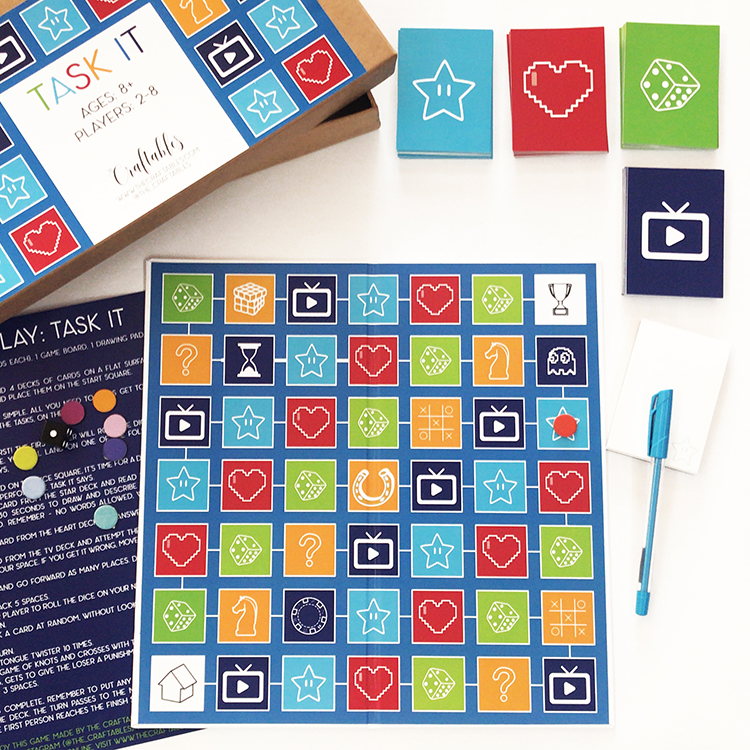 new Game alert – Task It | Refreshing take on a classic game of snakes and ladders | play with all ages | Family friendly | custom board games by The Craftables