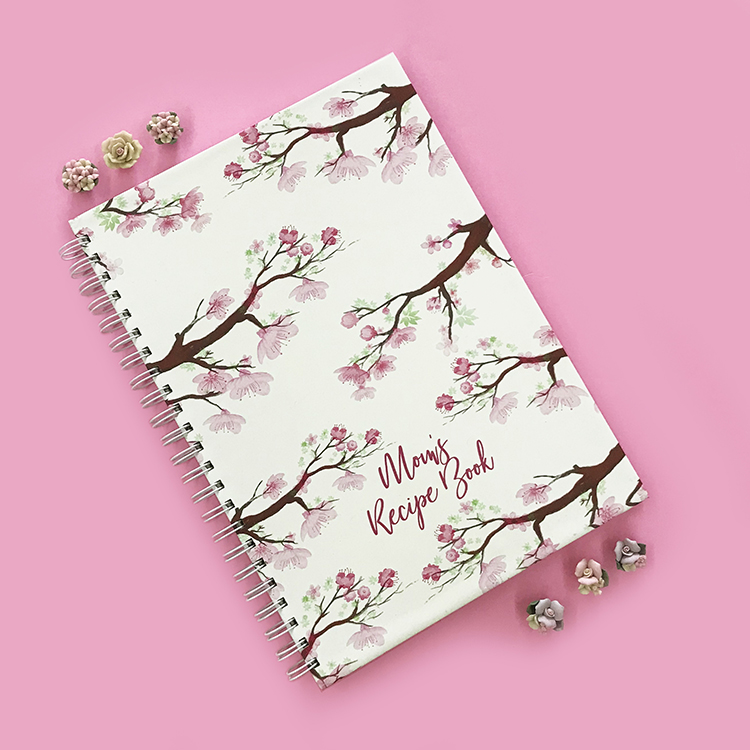 Cherry Blossoms Recipe Book Design | Order online on The Craftables Shop