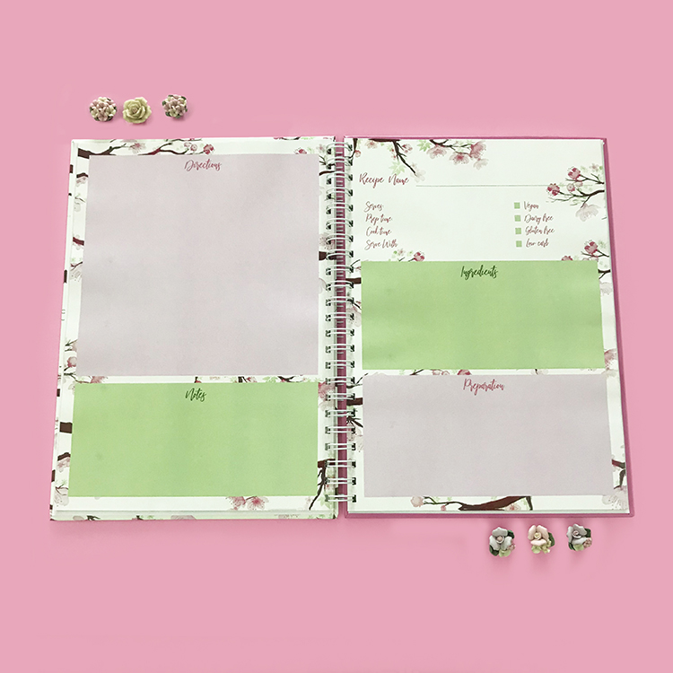 Inner pages for Cherry Blossoms Recipe Book | The Craftables