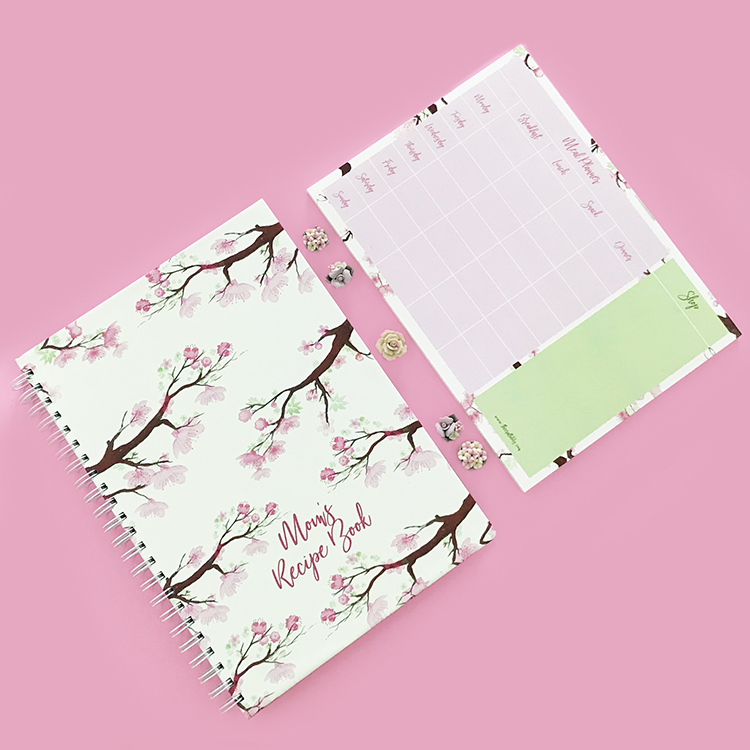 Sakura Meal Planner and recipe book gifting idea by The Craftables