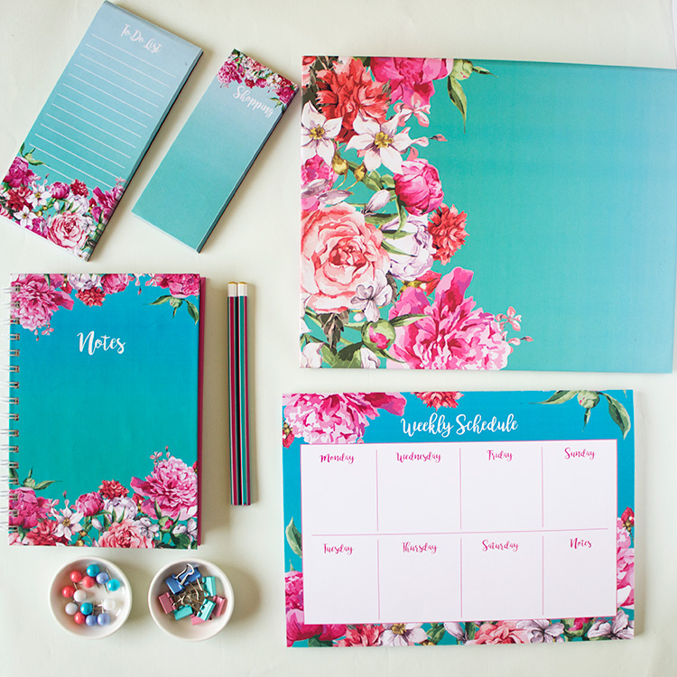 Bouquet Stationery Set | Turquoise | The Craftables 1