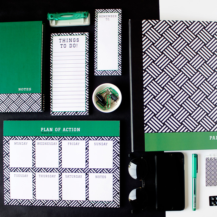 Hashtag Stationery Set | Emerald | The Craftables 1