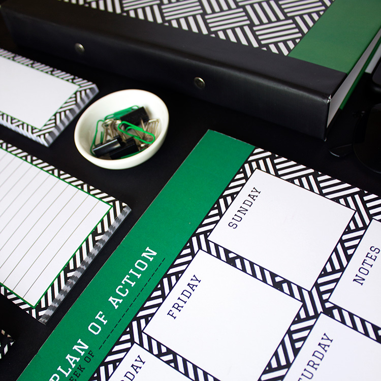 Hashtag Stationery Set | Emerald | The Craftables 2