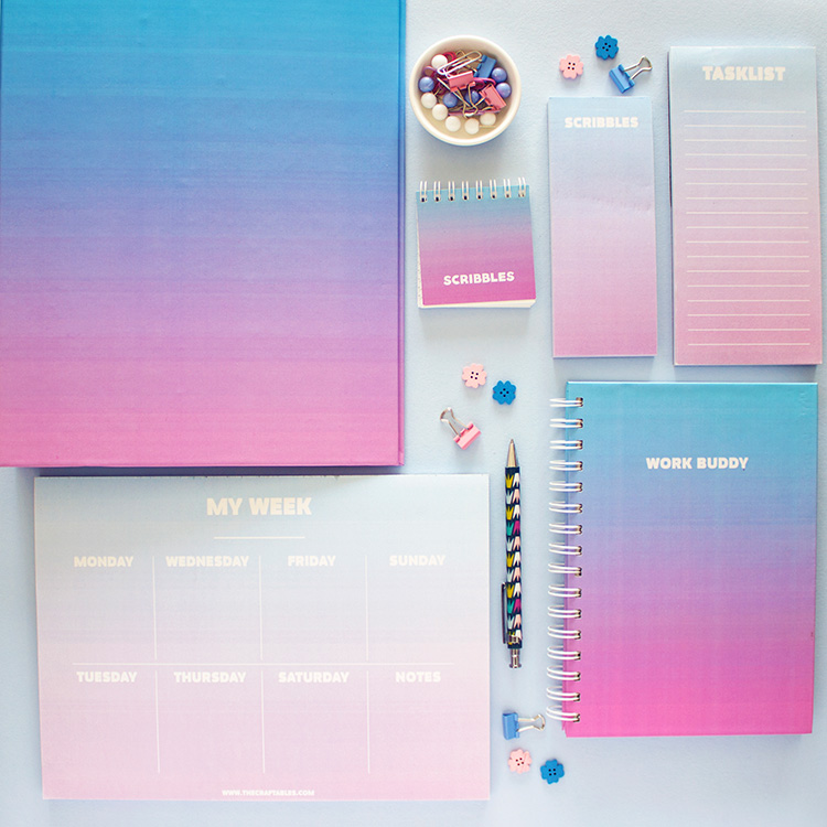 Ombre Stationery Set | Dreamy | The Craftables 1