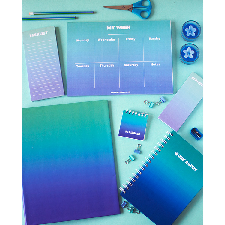 Ombre Stationery Set | Ocean | The Craftables 1
