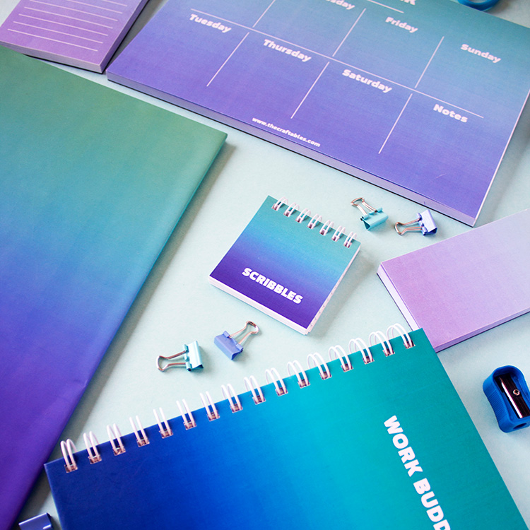 Ombre Stationery Bundle – Ocean